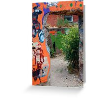 Hole in the Wall Greeting Card
