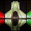 Azadi Tower (Triptych Reflection) -Tehran - Iran by Bryan Freeman