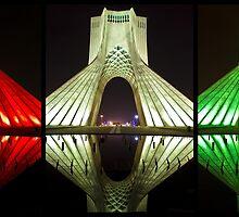 Azadi Tower (Triptych Reflection) -Tehran - Iran by Bryan Freeman