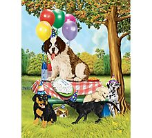 Puppy Party Photographic Print