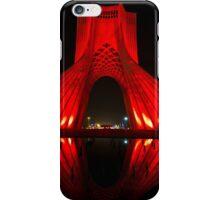 Azadi Tower (Red Reflection) -Tehran - Iran iPhone Case/Skin