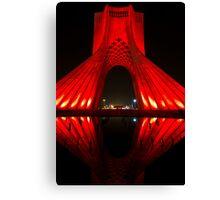 Azadi Tower (Red Reflection) -Tehran - Iran Canvas Print