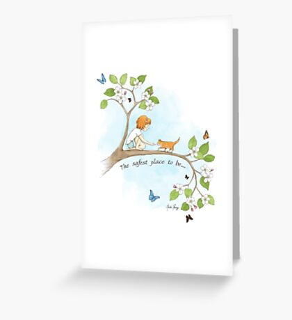The safest place to be... Greeting Card