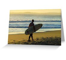 Aussie Surfer on the Beach Greeting Card