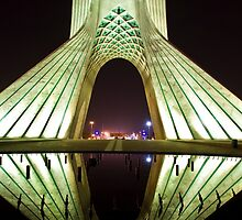 Azadi Tower (White Reflection) -Tehran - Iran by Bryan Freeman