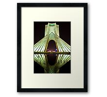 Azadi Tower (White Reflection) -Tehran - Iran Framed Print