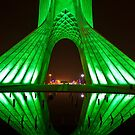 Azadi Tower (Green Reflection) -Tehran - Iran by Bryan Freeman