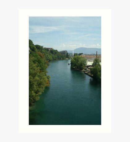 Rhône river Art Print