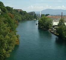 Rhône river by Fran E.