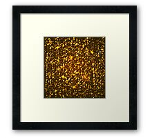 Gold shining background Framed Print