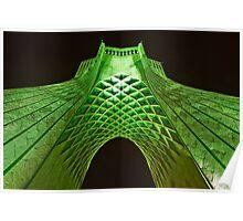 Azadi Tower (Green) -Tehran - Iran Poster