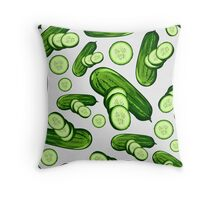 Veggiephile - Cucumbers Throw Pillow
