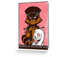 queen of the stone age pink Greeting Card