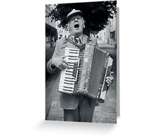 Street Musician, Lviv, Ukraine Greeting Card