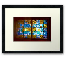 The Amazing Abbasi Hotel - Stained Glass - Esfahan - Iran Framed Print