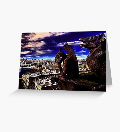 Notre Dame Sculptures Paris Greeting Card