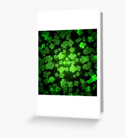 St Patricks day green background Greeting Card