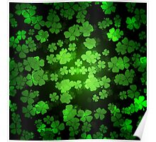 St Patricks day green background Poster
