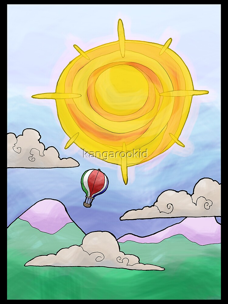 hot air balloon... by kangarookid