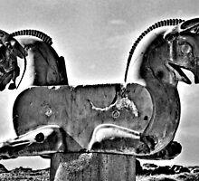 Double Headed Griffin - Persepolis - Iran by Bryan Freeman