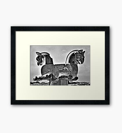 Double Headed Griffin - Persepolis - Iran Framed Print