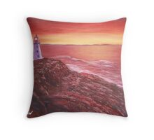 Lighthouse in Cape Spear Newfoundland Throw Pillow