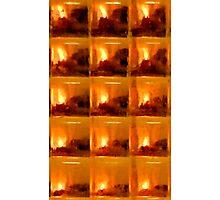 lamplight through glass tile Photographic Print