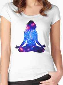 a mote of dust suspended in a sunbeam Women's Fitted Scoop T-Shirt