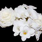 White on White Bouquet by AnnDixon