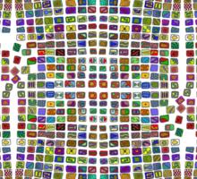Broken Pattern 3 Sticker