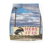 Route 66 - Here it Is Sign Mini Skirt
