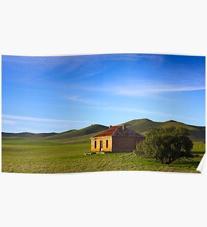 Farmhouse at Burra South Australia Poster