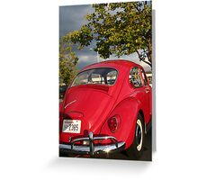 Slug Bug Red Greeting Card