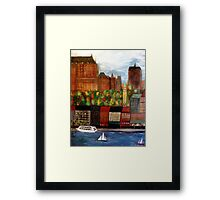 Quebec  City  Waterfront      Framed Print