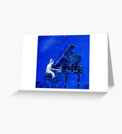Little Pianist Greeting Card