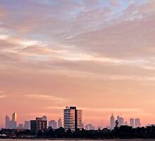 Melbourne City Skyline by Lola J