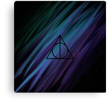 Deathly Hallows Rainbow Sludge Canvas Print