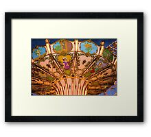 Ornate Swing Ride at Night on the Ocean City, NJ Boardwalk Framed Print