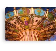 Ornate Swing Ride at Night on the Ocean City, NJ Boardwalk Canvas Print