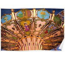 Ornate Swing Ride at Night on the Ocean City, NJ Boardwalk Poster