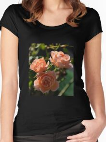 Apricot Roses Women's Fitted Scoop T-Shirt