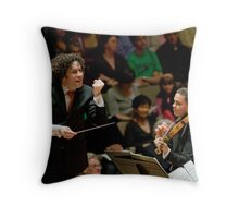 Gustavo Dudamel: Concert in London on Apr 18th 2009 Throw Pillow