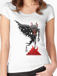 The Game of Kings, Wave Four: The Black Queen's Bishop Women's Fitted Scoop T-Shirt