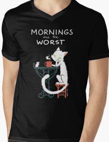 Mornings are the worst Mens V-Neck T-Shirt