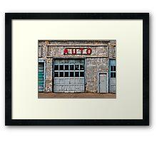 Auto Shop Framed Print