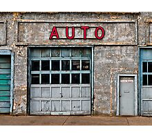 Auto Shop Photographic Print