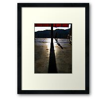 temple time. mcleod ganj, india Framed Print