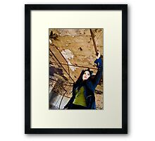 Manning an Airship Is Tough Work Framed Print