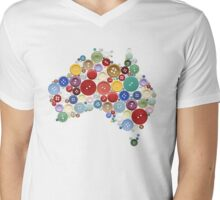 Aussie buttons Mens V-Neck T-Shirt
