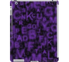 Alphabet Purple iPad Case/Skin
